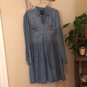 Long sleeve Jean Dress with Pockets